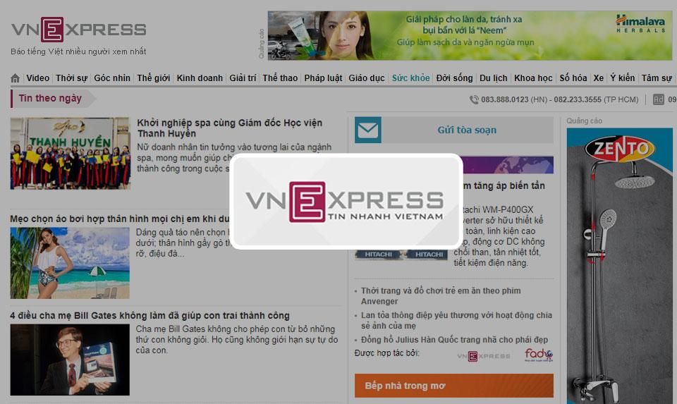 VNEXPRESS.VN nói về spa Thanh Huyền